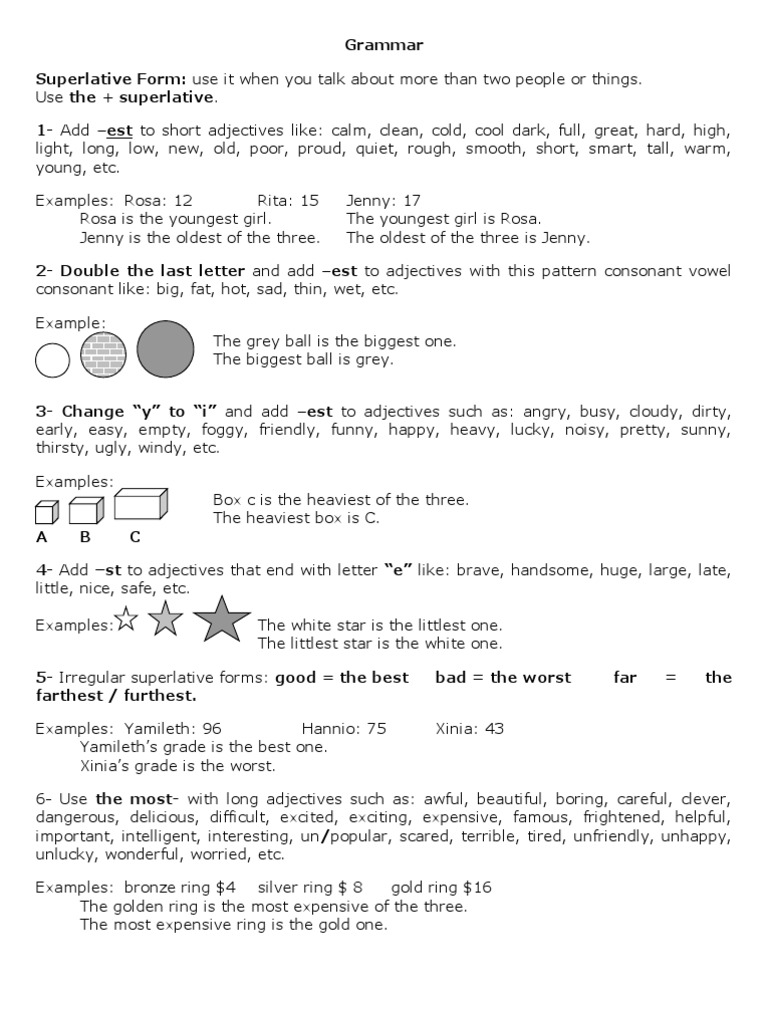 12e75f8abc Grammar Superlative and Other Comparative Forms