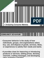 MBA-Marketing M-Analyzing Consumer Markets