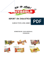 Industrial Visit Report- Surya Foods