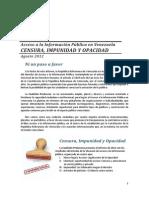 Impunidad, Censura y Opacidad ProAcceso 2012