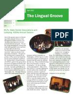 April 2013 Lingual Groove