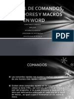 Tutorial de Comandos, Marcadores y Macros En work