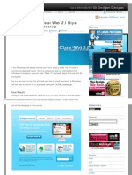 Web 2.0 Style Web Design in Photoshop