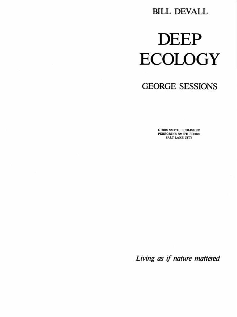 deep ecology conference