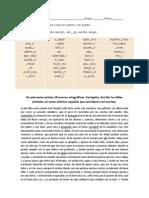 ejercicio ortografia 4-1