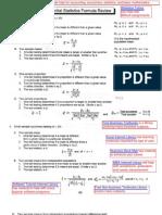 Statistics Formula Review 3
