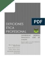 DEFINICIONES ETICA