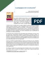LA FUNCIÓN PEDAGÓGICA DE LA EVALUACIÓN
