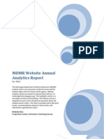 2012 Website Annual Analytics Report