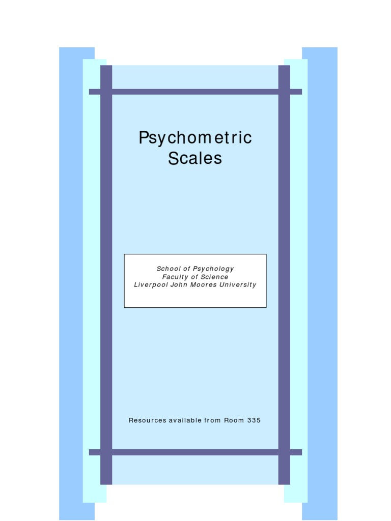 Psychometric Scales PDF | Psychometrics | Self Efficacy