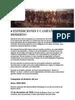 EXPEDICIONES Y CAMPAÑAS AL DESIERTO