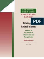 Vol2 - 2011 Regulation Review - Appendices