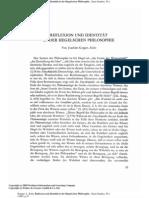 Reflexion Und Identitat in Der Hegelschen Philosophie
