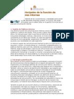 Seis focos principales de la función de comunicaciones internas