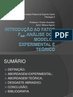Coeficiente de Romoção de Material - Fab