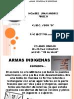 ARMAS DE LOS INDIGENAS Y ESPAÑOLES. JAPB