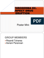 Poster Miini ERYTRODERMA EC Suspect Eruption Drug