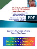 Cáncer de Cérvix Diagnóstico y Tratamiento Ene 2013
