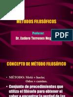 Principales Metodos Filosoficos y Concepciones Del Mundo