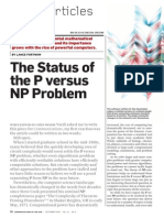 Fortnow-The Status of the P vs NP Problem