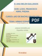 armas españolas e indigenas