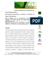 Caracterizacion Micromecanica de Materiales Para La Optimizacion Del Diseno de Mezclas Asfalticas