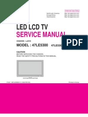 Manual Mais Esquema Tv Lg Led_lcd_47le5300 47le5300-Sa (Lj01d ... on