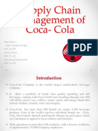 coca cola operation management These top five beverages are known worldwide and are sold in more than 200 countries competitors the coca-cola company competes in the nonalcoholic beverage segment of the commercial beverage industry the nonalcoholic beverage segment of the commercial beverage industry is highly competitive.