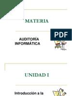 52624302 Unidad i Introduccion a La Auditoria Informatica