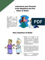 RECOMENDACIONES PARA PREVENIR LOS EFECTOS NEGATIVOS DEL FRÍO SOBRE LA SALUD