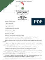 Direito Constitucional - Poder Judiciário - Disposições Gerais