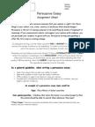 Persuasive  Essay Assignment Sheet