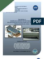 TALLER No. 4, Canales y Sedimentador