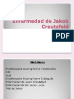 Enfermedad de Jakob Creutzfeld Presentacion Power Point