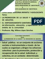 salud comunitaria, Promocion de la salud  y  educación  de adultos.pptx