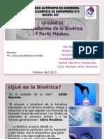 Etica y Legislación- 3.- Antecedentes de la Bioética Y Perfil Médico