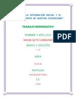 AÑO DE LA INTEGRACIÒN SOCIAL Y EL RECONOCIMIENTO DE NUESTRA DIVERSIDAD
