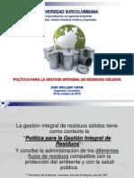 7. Política para la Gestión Integral de Residuos