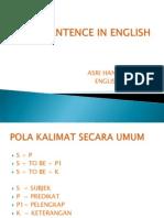 Sentence in English