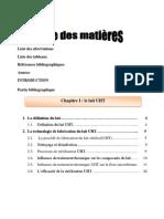 1c.tables des matières
