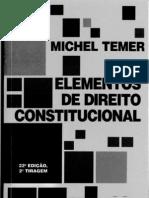 Michel Temer Elementos de Direito Constit