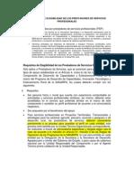 Requisitos PSP 2011