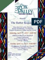 Rutter Concert This Weekend
