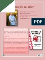 Reseña En nombre del amor de Nicholas Sparks