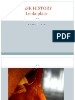 CASE HISTORY of Leukoplakia1