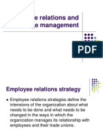 Employee Relations and Change Management