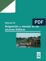 Asignación y manejo de los recursos hídricos - Manual 10 Ramsar Humedales