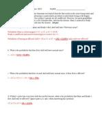 BIOS 20250  2011 White Exam I key