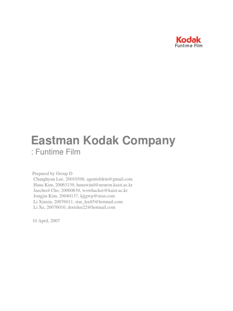 eastman kodak co. funtime film case study Kodak case study harvard business school how to write a letter for scholarship consideration resume writing tips linkedin personal essay for college format.