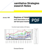 Regimes of Volatility - Derman